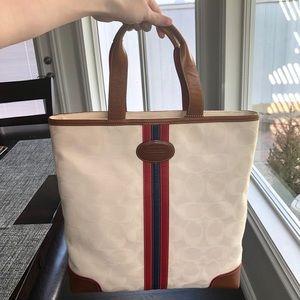 Coach Bags - Coach cream signature tote